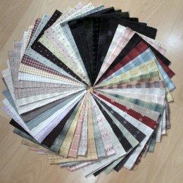 ผ้าทอจัดเซท 50 ชิ้น No.2 ขนาด 12.5 x 17.5 cm.
