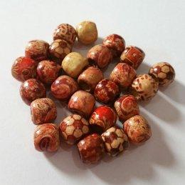 ลูกปัดไม้ ขนาด 12 mm. ราคา/set  10 เม็ด