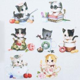 แผ่นรีดติดผ้า ขนาดทั้งชุด 24 x 31 ซม. ขนาดแมวประมาณ 6 - 6.5 cm.