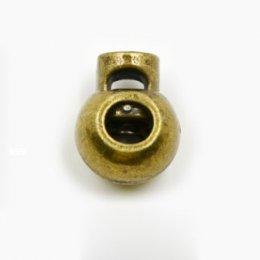 ตัวล็อคเชือกเหล็กเหลืองดำ ขนาด 1.7 x 2.3 cm. สำหรับเชือกหนา 0.5 cm. (2 อัน/set)
