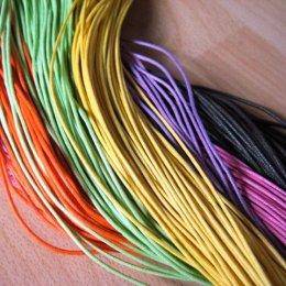 เชือกหนังสำหรับทำ ตัวห้อยซิป ขนาด 1.5 mm. ราคา/เมตร (มีหลายสีให้เลือกค่ะ)