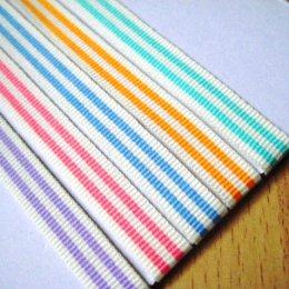 เทปผ้าลายทางสีสดใส ขนาด 1 cm. ราคาหลาละ