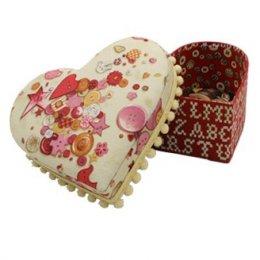 **ลด 50%** กล่องเอนกประสงค์ รูปหัวใจ ขนาด W13.5*D12.5xH5.5cm 1 ชุดมี 2 กล่องค่ะ
