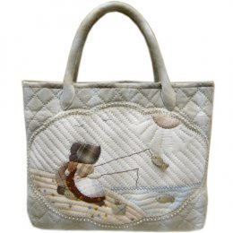 ชุดอุปกรณ์พร้อมเย็บ Fishing Bag of Sue By Kumiko Minami ขนาดสำเร็จ 29*36 cm.