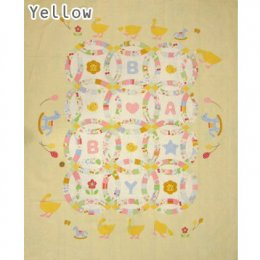 ผ้าบล๊อค Baby Quilt ญี่ปุ่น โทนเหลือง ขนาด 90*110 cm.