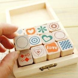 Stamp Set ชุด Simple Pattern ขนาดทั้งเซ็ท 10*8*4 cm.