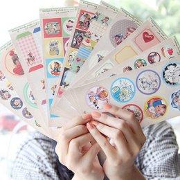Retro\'s the story stickers มีให้เลือก 4 set (10 แผ่น/set)