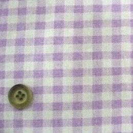 ผ้า cotton & linen  ญี่ปุ่น ถุงแป้งลายสก๊อตโทนม่วง ขนาด 1/9 เมตร (33*45ซม.)