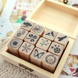 Stamp Set ชุด Nature Pattern ขนาดทั้งเซ็ท 10 x 8 x 4 cm.