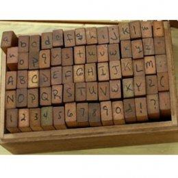 Stamp Set ชุด รวมมิตรตัวอักษรอังกฤษ ตัวเลข ขนาดทั้งเซ็ท 7.2 x 11 x 5.7 cm.
