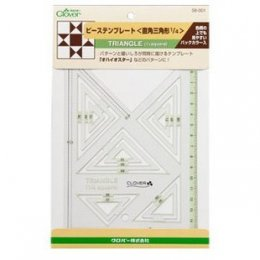 เทมเพลทสามเหลี่ยม 1/4 Square (58-001)