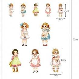 ผ้าฝ้ายผสมลินินเกาหลี CHILDHOOD  (ขนาด 45 x 55 cm.)