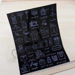 กำมะหยี่ แผ่นรีดติดผ้า ขนาดต่อแผ่น 28 x 15 cm.  ราคาแผ่นละ