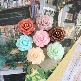 ดอกกุหลาบเรซิ่น ขนาด 2 cm.ราคาดอกละ