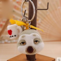 Kit set Felting พวงกุญแจสลอต จากเรื่อง Zootopia ขนาดประมาณ 8 x 5.5 cm.ราคาชุดละ
