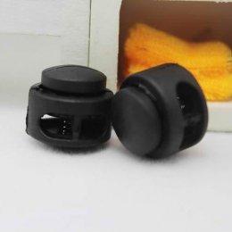ตัวล็อคเชือกสีใส ขนาด 1.7 x 1.8 cm. สำหรับเชือกหนา 0.5 cm. (4 อัน/set)
