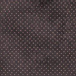 ผ้าอเมริกาลายจุดชมพูพื้นดำ สำหรับ mat ผ้าน้องมิร่า ขนาด 45 x 55 ซม.