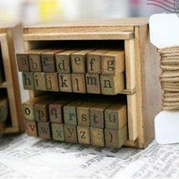 stamp อักษรตัวพิมพ์เล็ก ขนาด 5 x 7 x 8 cm.