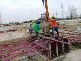 บริษัท กลอรี่ คอนสตรั๊คชั่น จำกัด หน่วยงาน ก่อสร้างสถานีไฟฟ้าแรงสูง บางประกง (แห่งใหม่)