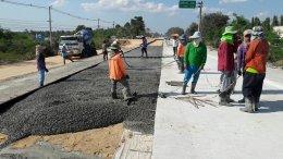 บริษัท บางแสนมหานคร จำกัด หน่วยงาน ก่อสร้างถนนทางหลวงสาย 36 ตอนแยกกระทิงลาย – ระยอง ตอน 1
