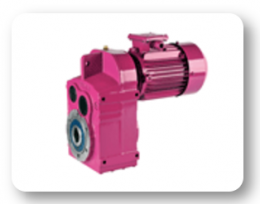 DR Series : Helical geared motors, direct coupled flange