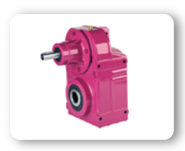 DT Series : Helical geared units with solid input shaft