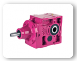 KT Series : Bevel geared units, solid input shaft