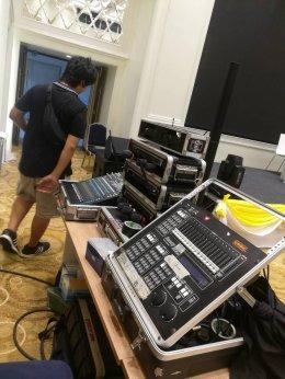 งานเครื่องเสียง ไฟ Light&Sound  งานแถลงข่าว