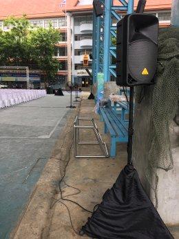 งาน Michelin โรงเรียนวัดบ้านโป่ง ราชบุรี เครื่องเสียง ไฟ เวที ทรัส