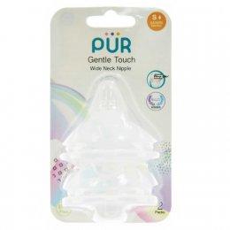 จุกนม รุ่ม Gentle Touch คอกว้าง ขนาดเล็ก สำหรับเด็กแรกเกิด แพ็ค 2 ชิ้น