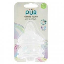 จุกนม รุ่ม Gentle Touch คอกว้าง ขนาดกลาง สำหรับเด็ก 3-6 เดือน แพ็ค 2 ชิ้น