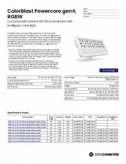 ColorBlast Powercore gen4, RGBW