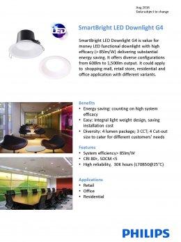 SmartBright LED Downlight G4