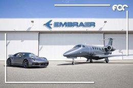 สัมผัสขีดสุดแห่งสมรรถนะทั้งบนท้องถนนจรดฟากฟ้า การจับมือกันระหว่างปอร์เช่ และ Embraer (เอ็มบราเออร์)