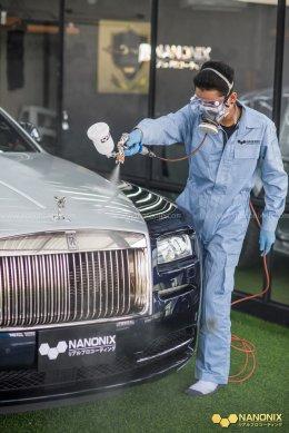 ขอบพระคุณ คุณนิกร CEO วุฒิศักดิ์ คลินิค นำรถ Rolls-Royce เคลือบแก้วระบบพ่น NANONIX DIAMOND