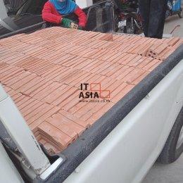 ส่ง อิฐมอญ 4 รู ใหญ่ ขนาด 6x6x15 ซม. หน้างาน ธัญบุรี จ.ปทุมธานี