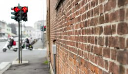 Brick Wall กำแพงอิฐมอญ
