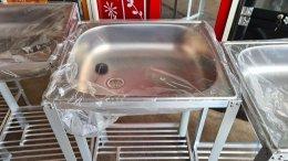 อ่างล้างมืออลูฯ-แถมขาตั้ง&สายน้ำทิ้ง