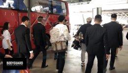 บอดี้การ์ดศิลปินดารา  ภาระกิจอารักขารับศิลปินเกาหลี Shin Dong และ Lee Teuk ที่สนามบิน
