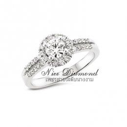 แหวนหมั้น แหวนแต่งงาน เพชรน้ำ 100 ใบเซอร์ Gia 3 Excellent แบบยอดนิยมของทางร้าน Nice Diamond ดิโอลด์สยาม