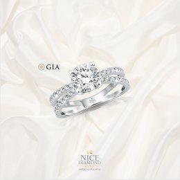 แหวนหมั้น แหวนแต่งงานเพชรไซ้ส์กะรัต