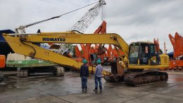 7 มิถุนายน 61 (เที่ยง) ปิดการขาย รถขุดมือสอง KOMATSU PC200-7 บูมยาว สภาพสวย สด
