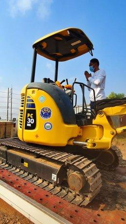 ปิดการขาย รถขุดมือสอง KOMATSU PC30MR3 6 พันชั่วโมง