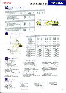 ข้อมูลรถขุดมือหนึ่ง  KOMATSU PC160LC-8