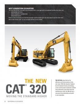 ข้อมูลรถแบคโฮมือหนึ่ง CAT320 Next Generation