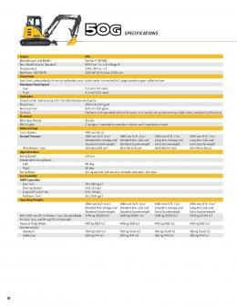 ข้อมูลรถแบคโฮมือหนึ่ง JOHN DEERE 35G / 50G / 60G