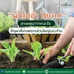 ปัญหาผักโตช้า โตยาก!!!