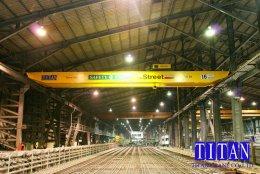 เครนเหนือศีรษะ แบบคานคู่ นำ้หนักยก 16 ตัน กว้าง 16 เมตร ระยะยกสูง 13 เมตร