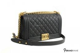 """Chanel Boy 10"""" Black Caviar GHW"""