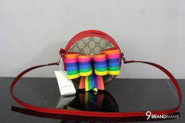 Gucci Children's GG rainbow bow messenger